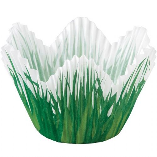 Shaped Grass Baking Cups